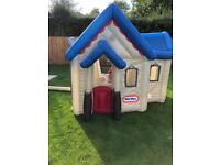 Little Tykes blow up house with electric fan & pegs