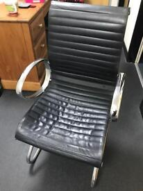 Black Leather Look Office/Conference Chair
