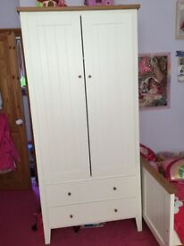 Girls wooden wardrobe excellent condition like new