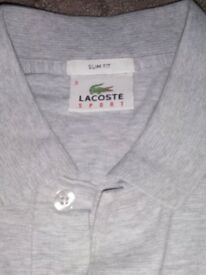 Lacoste slim-fit polo. Grey