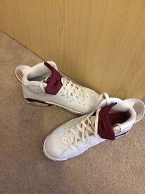 Nike Air maroon Jordan trainers