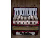 Hohner Student V, 48 Bass, 2 Voice, 26 Treble Keys, Piano Accordion.