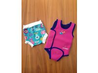 SwimBest wetsuit and Splash About Happy Nappy