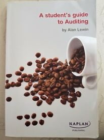 A students guide to auditing! Excellent book! Very good condition! Only £10!