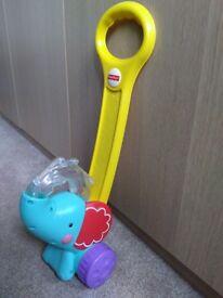 Fisher Price push along elephant walker toy