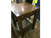 Pair of bar tables, tall. Solid, poss deliv