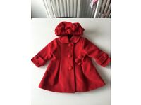 Baby Girl Coat and Hat