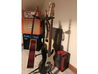 Fender Squire P-Bass & Ashdown 150watt Amp