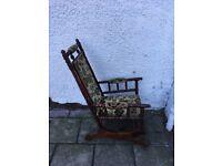 Victorian walnut rocking chair