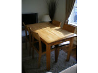 HABITAT Solid Wood Table & Chairs - Great Used Condition!