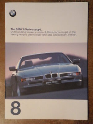 BMW 8 SERIES COUPES orig 1997 UK Mkt Sales Brochure with LHD - 840 850 Ci