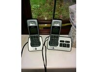 BT Digital Cordless Phone with Answer Machine BT2500 Twin