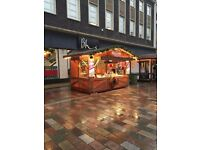 German catering unit, Christmas market hut, catering trailer