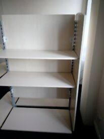 free standing gondola /shop shelving unit
