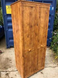 Pine double wardrobe now sold