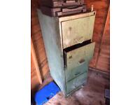 Old chest of metal draws, from garage