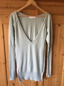 Women's All saints long jumper in mint. Size large