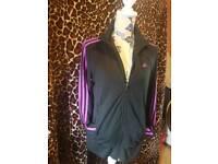Adidas zip up jacket size 16