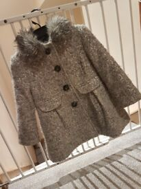 Girls sliver sequin coat