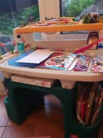 Child's desk and chair with copious storage