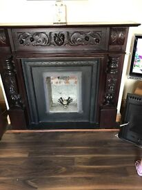 Fire place -solid mahogany