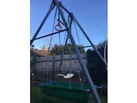 Free Children's single TP swing with swing boat