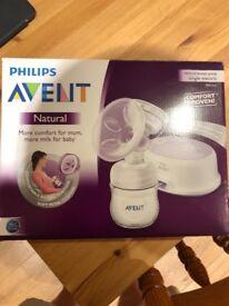 Philips avent breast pump (single)