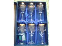 Set of 6 Duiske Handcut Glasses in Box (Brand New)