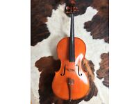 3/4 Cello with bow and hard case
