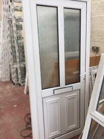 Half glazed half panel PVCu front door