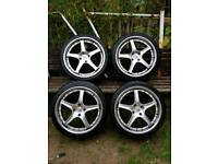 """Alloys 18"""" Ford with tyres"""