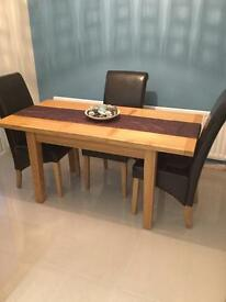 Dining table oak sold