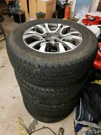 Ford ranger wildtrak alloys and tyres as new 205/60 18