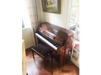 Classic Zender Mahogony Piano Great Condition Chair Included