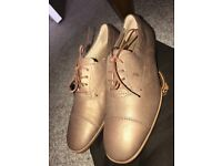 Tod's Shoes size 37 Francesina string nude NEW