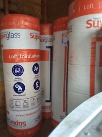 Knauf and superglass loft insulation 10 rolls in total