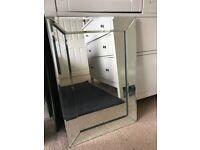 Bespoke bevelled mirror