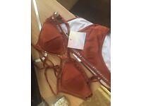 Missguided copper bikini size 10