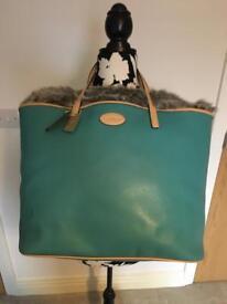 Designer Coach Handbag - Turquoise