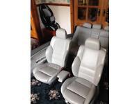 Bmw e46 e36 m sport m3 leather seats interior seat custom rare white cream bespoke
