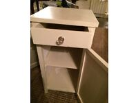 Shabby Chic Bedside Table painted in Farrow & Ball Off-White