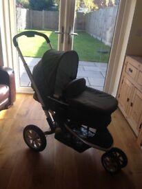 Mothercare Xpedior Pram/pushchair in Dark Green