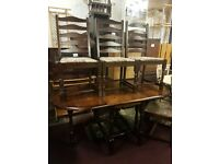 Dinning table and 4 chairs for sale