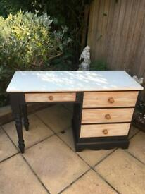 Dove Tail Pine Dressing Table With 4 Drawers