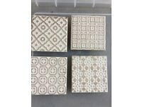 Batik ceramic cream tiles