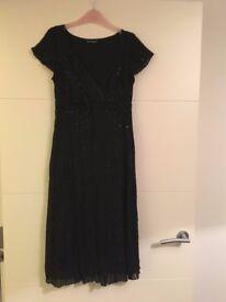 Autograph Black Dress with sequins (size 10)
