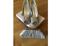 Size 7 lunar shoes with matching clutch bag