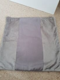 2 x sliver 45 x 45cm cushion covers