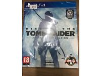 Brand new sealed rise of the tomb raider ps4