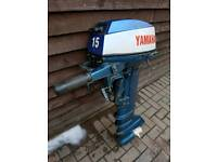 X2 yamaha outboards engines 15hp and a 8hp long shaft 2 stroke